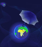 Earth under protection Royalty Free Stock Photo