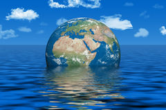 Earth under water Stock Image