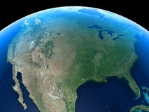 Earth - United States. United States as seen from space vector illustration