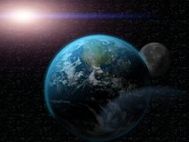 Earth in universe Royalty Free Stock Photos