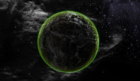 Earth and Universe. The full moon on a dark night. Represents a formidable Royalty Free Stock Photos