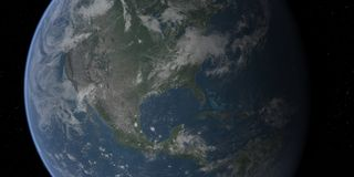 Earth-usa-closeup. A close up view of the usa from space Stock Image