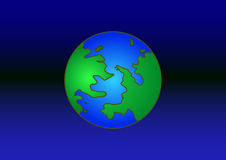 Earth. Vector icon of Earth with highlight, isolated on background Stock Photo