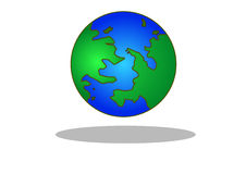 Earth. Vector icon of Earth with highlight, isolated on background Royalty Free Stock Photography