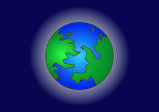 Earth. Vector icon of Earth with highlight, isolated on background Stock Image