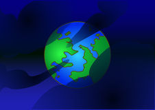Earth. Vector icon of Earth with highlight, isolated on background Stock Photography