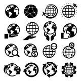 Earth vector icons set Stock Photography