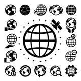 Earth vector icons set Stock Photos