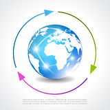 Earth vector poster Stock Images