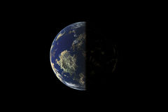Earth view. With black background stock image