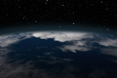 Earth view from above Stock Images
