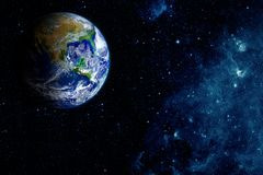 View of the earth from the moo royalty free stock image