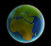 Earth Viewed From Space Stock Image