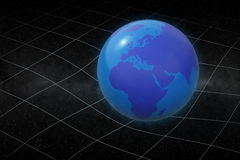 Earth warping space Stock Images