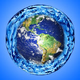 Earth and water Royalty Free Stock Image