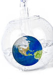 Earth in water Royalty Free Stock Image
