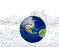 Earth in water Stock Image