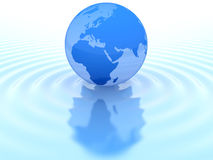 Earth and water. Abstract earth on water (done in 3d Royalty Free Stock Photos