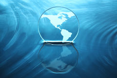 Earth on water stock images