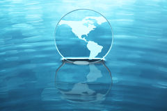 Earth on water Royalty Free Stock Images