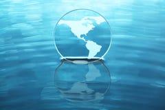 Earth on water stock illustration