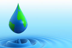 Earth water drop Royalty Free Stock Photo