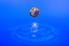 Earth - water drop Royalty Free Stock Photo