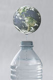 Earth Water drop Stock Image
