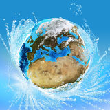 Earth and water Royalty Free Stock Images