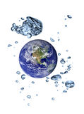 Earth-water planet. Earth-a water planet concept royalty free illustration