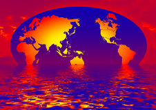earth With Water Reflection stock image