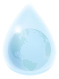 Earth in waterdrop Royalty Free Stock Images