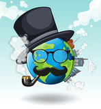 Earth wearing glasses and hat Stock Images