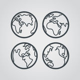 Earth web icons collection Stock Photo