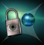 Earth Web Security Royalty Free Stock Photos