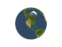 Earth On White Background Royalty Free Stock Image