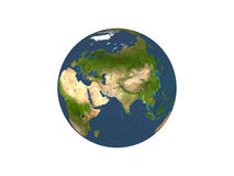 Earth On White Background Stock Photo