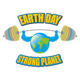 Earth white background. Earth Day. Strong planet. Planet bodybui Stock Images