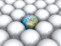 Earth within white balls Royalty Free Stock Photos