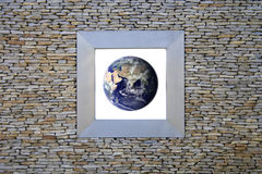 Earth Window (asia) Royalty Free Stock Images