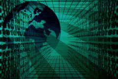 Earth With Binary Code Royalty Free Stock Photography