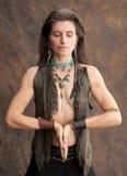 Earth Woman Stock Photo