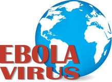 Earth with words Ebola Virus Royalty Free Stock Photography