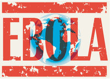 Earth with words Ebola Virus Stock Image
