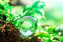 Earth World Globe Crystal Royalty Free Stock Photo