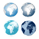 Earth World Globe Map Icons Stock Photo