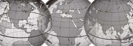 EARTH WORLD GLOBE SET Royalty Free Stock Photography