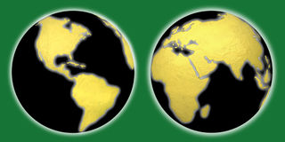 EARTH WORLD GLOBE SET Stock Image