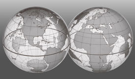 EARTH WORLD GLOBES Royalty Free Stock Photos