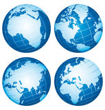 Earth world globes. Royalty Free Stock Photo